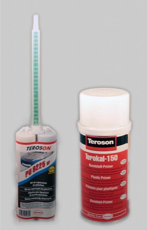 Teroson PU 9225 adesivo bicomponente per riparazione plastiche auto moto 50 ml